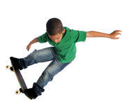 Young Child Skate Boarding stock photo