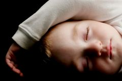 Young child sleeping Royalty Free Stock Photography