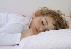 Young child sleeping. Royalty Free Stock Photos