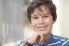 Young child smiling Stock Photo