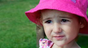 Young child, toddler, face on, beautiful. Royalty Free Stock Image