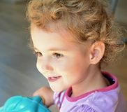 Young child, toddler, looking straight ahead, beau Royalty Free Stock Photo
