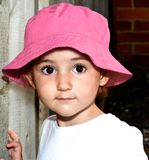 Young child, toddler, looking straight at camera, beautiful. Royalty Free Stock Photography