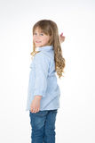 Young child turns back Stock Photo