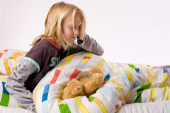 Young child waking up Royalty Free Stock Photography