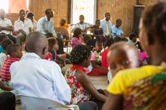 Mozambique Pentacostal Church gathering scenes in Xai Xai. Young children at the church in Xai Xai - A series of images from Mozambique pentacostal church stock images