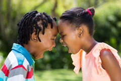 Young children enjoying together Royalty Free Stock Photo