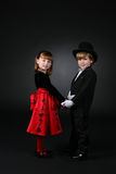 Young children holding hands Stock Images