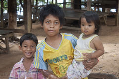Young children in Kampot Stock Photo