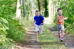 Young children in nature royalty free stock photography