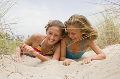 Young Children Playing at the Beach Royalty Free Stock Photography