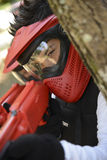 Young children playing paintball Royalty Free Stock Photo