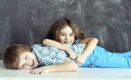 Young children playing Stock Photo