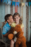 Young children playing with toys Stock Photography