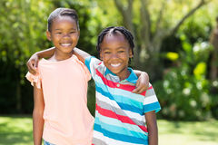 Young children posing Stock Images