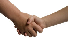 Young children shaking hands Royalty Free Stock Photos