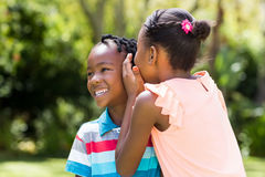 Young children are talking together Stock Photos