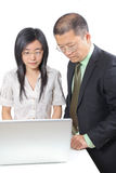 Young Chinese business people Royalty Free Stock Image