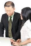 Young Chinese business people royalty free stock photos