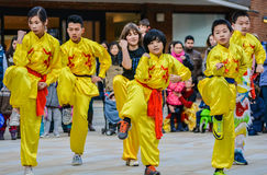 Young Chinese Children performing martial arts Stock Photography