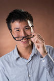 Young Chinese frank businessman Stock Photo