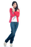 Young Chinese girl arm crossed Stock Photography