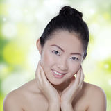Young chinese girl with clean skin Stock Images