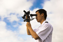 Young Chinese Navigator Royalty Free Stock Photo