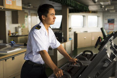 Young Chinese Navigator Royalty Free Stock Image
