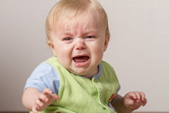Young chlid upset and crying. Stock Images