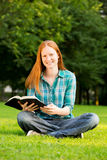 Young Christian Woman with a Bible stock photo