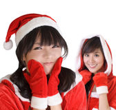 Young Christmas girls Stock Images