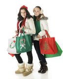 Young Christmas Shoppers Stock Image