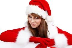 Young christmas woman Stock Photos