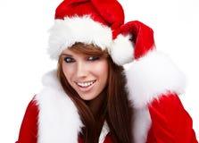 Young christmas woman Royalty Free Stock Image