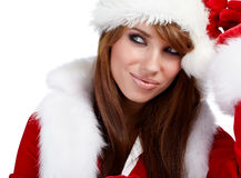 Young christmas woman Royalty Free Stock Images