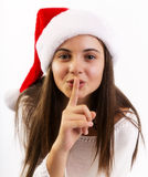 Young christmas woman Royalty Free Stock Photography