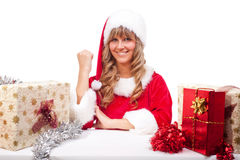 Young Christmas Woman with some presents Stock Photos