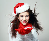 Young christmas woman Stock Image