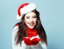 Young christmas woman Royalty Free Stock Image