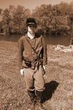 Young Civil War Soldier. Buchanan, VA - April 26; A Young Civil War soldier (reenactor) at the Buchanan Civil War History Weekend on April 26, 2014, Buchanan Royalty Free Stock Image