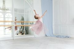 Young ballet dancer in dance class royalty free stock images