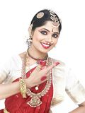 Young classical dancer from india Royalty Free Stock Photo