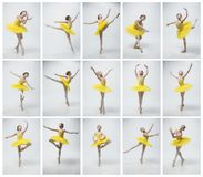 Young classical dancer on white background. royalty free stock photography