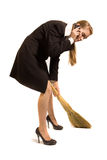 Young cleaner royalty free stock photos