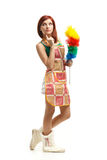 Young cleaning woman. Royalty Free Stock Photography