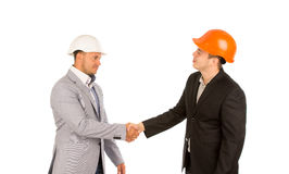 Young Client Shaking Hand with Engineer Royalty Free Stock Photo