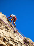 Young climber. West Alps,europe Royalty Free Stock Photo
