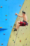 Young climber Royalty Free Stock Photos