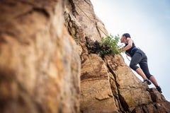 Free Young Climber Rock Climbing Stock Image - 108438101